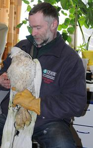 Sergey Ganusevich with seized Gyrfalcon