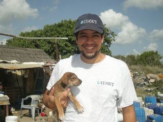 Puppy rescued by Eduardo Santurtun