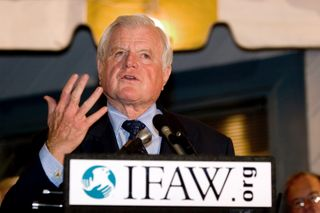 Ted Kennedy was a longtime supporter and friend of IFAW and a consistent leader of U.S. and international efforts to protect our planet's great whales and their ocean habitat